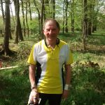 Doug after finishing today at Mansty Wood